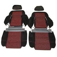 coiffe de siege coiffes de siège avant et banquette arrière en tissu noir côtelé