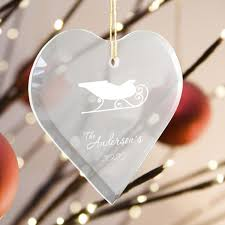 personalized beveled shaped glass ornament