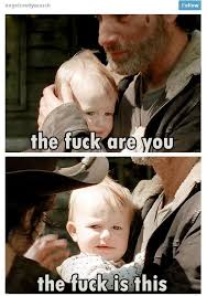 Rick And Carl Meme - baby judith rick and carl grimes the walking dead funny meme