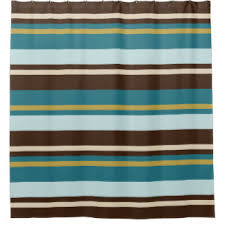 Yellow And Navy Shower Curtain Brown Teal Shower Curtains Zazzle