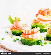 canape mousse canape with cucumber avocado mousse stock photo 5ph 140900044