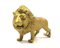 gold lion statues gold lion etsy