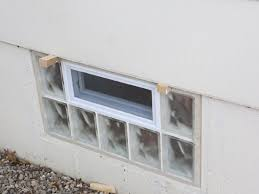 glass block basement window in st louis basement security windows