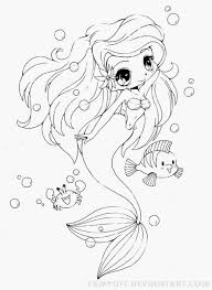 Baby Ariel The Little Mermaid Coloring Pages 2352 Baby Mermaid Ariel Color Page