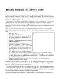 Resume Templates For Word 2007 by Resume Templates Microsoft Word 2007 How To Find Resume Template