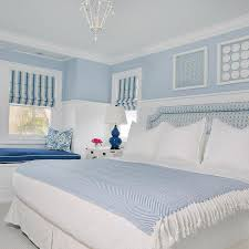 Cottage Wainscoting Blue Cottage Bedroom With Shadowbox Art Over Bed Cottage Bedroom