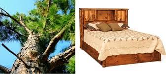 Bed Bookcase Headboard Amish Rustic Pine Log Bed With Bookcase Headboard
