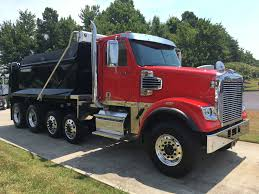 2018 freightliner 122sd quad dump with rs body triad freightliner