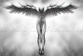 guardian angel tattoo drawing tutorial step by step tattoos pop
