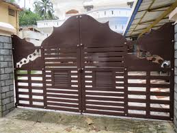 Exterior Artistic Wooden Gates Decoration Idea Exterior