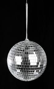 6 silver mirror disco ornament ornaments