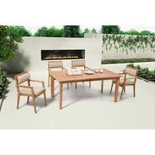 zuo modern nautical dining table natural teak wood 703556 u2013 luxe