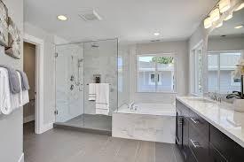 contemporary master bathroom with undermount sink u0026 handheld