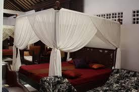 Lotus Bed Frame Lotus Mahogany Balinese Canopy Bed