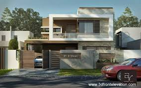Modern Elevation 3d Front Elevation Com 10 Marla Modern Contemporary Front Design