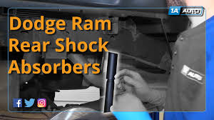 how to install replace rear shock absorbers 2002 10 dodge ram 1500