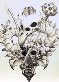 image birdskull tattoo design sketch by pseudodog d4libpl jpg