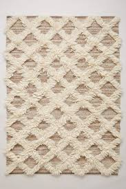lattice flokati rug anthropologie