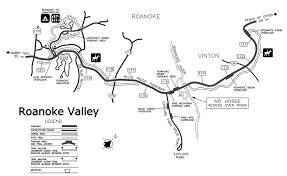 Roanoke Virginia Map by Blue Ridge Parkway Stewarts Knob Overlook 110 6