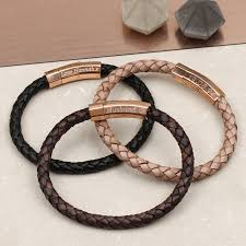 gold clasp leather bracelet images Personalised rose gold clasp leather bracelet by hurleyburley man jpg