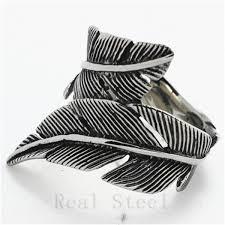 cool rings design images New design fallen leaf rings mens boys 316l stainless steel cool jpg