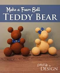foam ball teddy bear craft