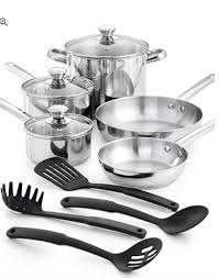 Stainless Steel Kitchen Set by Run 12 Piece Stainless Steel Cookware Set For 25 49 Free