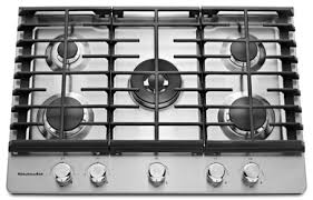 30 Inch 5 Burner Gas Cooktop 30 U0027 U0027 5 Burner Gas Cooktop Kcgs550ess Kitchenaid