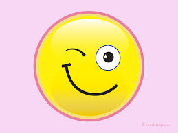Smiley Flowers - winking smiley desktop wallpaper