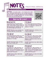 music classroom newsletter template by music with mrs dennis tpt