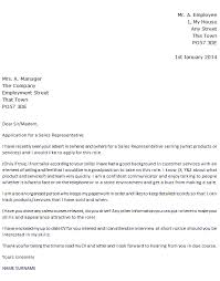 sales representative job application cover letter example u2013 cover