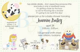 nursery rhyme baby shower baby shower invitation wording nursery rhyme il fullxfull