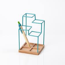 Stylish Desk Organizers by Block Sketch Desk Tidy Blue Design Led Desk Tidy In Powder