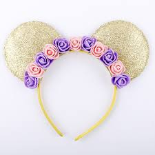 mouse ears hair bands hoop flower hairband headbands