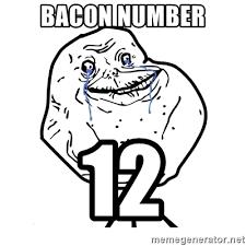 Meme Generator Forever Alone - bacon number 12 forever alone guy meme generator