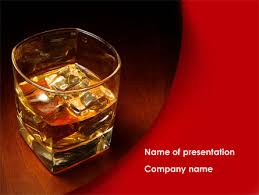 whiskey in rock powerpoint template backgrounds 08534