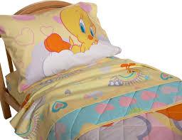 amazon com tweety toddler bed set home u0026 kitchen