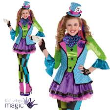girls teen sassy mad hatter alice in wonderland halloween fancy