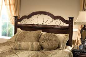 Bed Headboard Lights Bedroom Elegant Wooden Headboards With Fancy Brown Bedding Sets