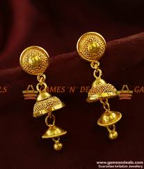 long rings jewelry images Er371 south indian double layer aduku jhumki trendy imitation jpg