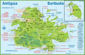 World Map To Scale by Large Detailed Tourist Map Of Antigua And Barbuda