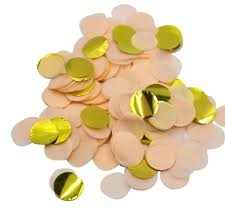 gold foil tissue paper 2oz 18mm and gold foil confetti wedding engagement tissue