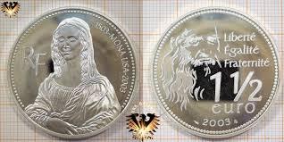 2003 1 5 Euro Frankreich 2003 500 Jahre Mona Lisa Von Leonardo Da Vinci