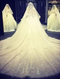 brautkleider mit langer schleppe ösen hochzeitskleider 2016 ballkleid applique weißem tüll