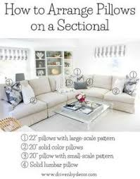 Sectional Cushions Good Tip For Pillows On A Sectional My Home Pinterest