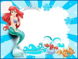little mermaid birthday invitation template the little mermaid