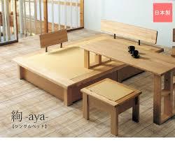 Tatami Mat Bed Frame Kagu208 Rakuten Global Market Aya S Tatami Bed With Headrest