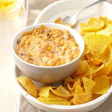 halloween party dip corn chip chili cheese dip recipe taste of home