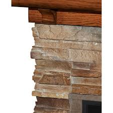 flagstone electric fireplace mantel
