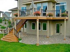 Deck Stairs Design Ideas 2 Story Deck Patio Google Search Deck Porch Ideas Pinterest